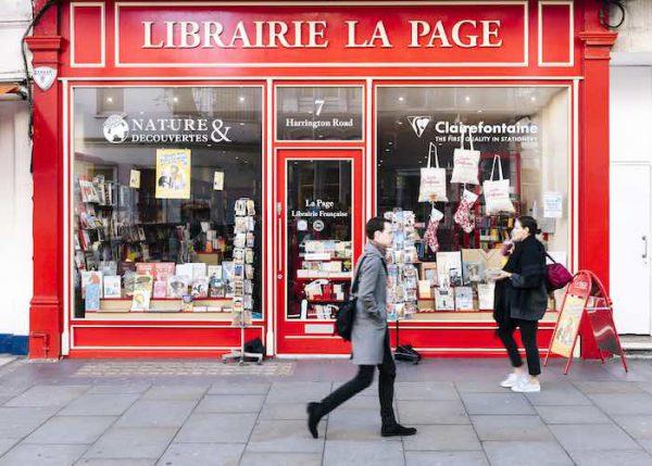 Lecture à la librairie La page, Londres